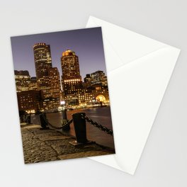 The Lights of Boston pier Stationery Cards