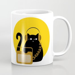 Cats love Music by Qora & Shaï Coffee Mug