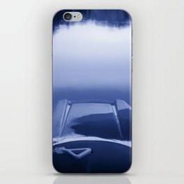 Smooth Sailing kayaking monochrome reflections iPhone Skin