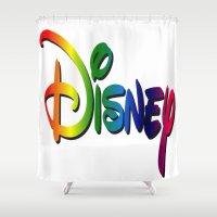 cartoon Shower Curtains featuring CARTOON by Acus