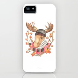 Hipster Moose iPhone Case