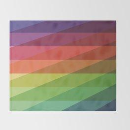 Fig. 040 Rainbow Stripes Throw Blanket