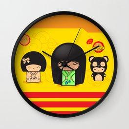 Cute Girls Wall Clock