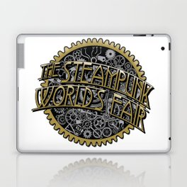 The Steampunk Worlds Fair Logo Poster Laptop & iPad Skin