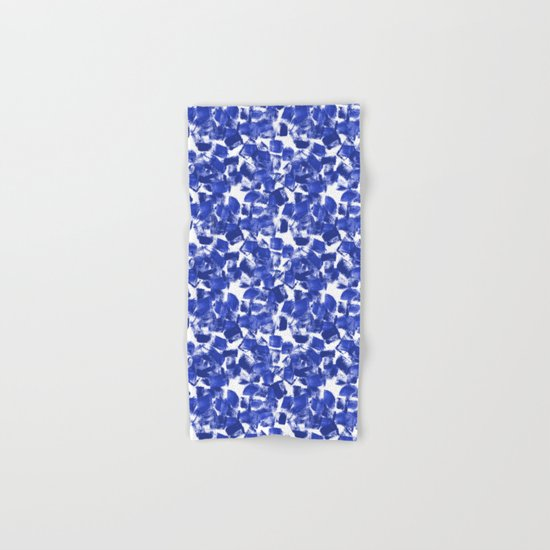 Azia - bright blue painterly abstract brushstrokes painting trendy minimal modern monochrome indigo Hand & Bath Towel