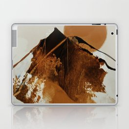 abstract mountains, rustic orange sunrise Laptop & iPad Skin