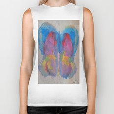 Pastel Ice Cream Butterfly Biker Tank