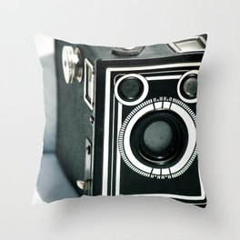 Vintage 1940's Sears S-20 Box Camera Photography  Throw Pillow