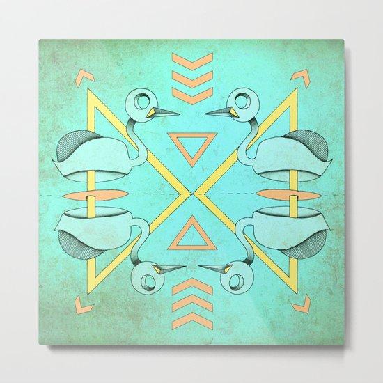 Aztec swan Metal Print
