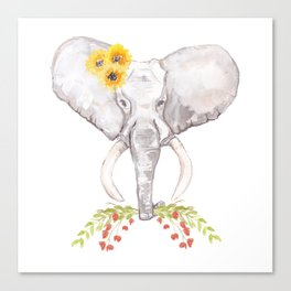 welcoming elephant Canvas Print