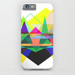 Abstract Geometry Colorful iPhone Case