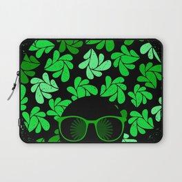 Afro Diva : Green & Black Laptop Sleeve