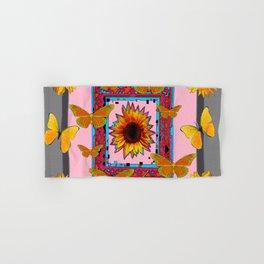 SOUTHWEST ART BUTTERFLIES SUNFLOWERS Hand & Bath Towel