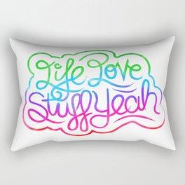 Life Love Stuff Yeah (Color) Rectangular Pillow