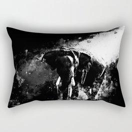 elephant jungle sunray ws bw Rectangular Pillow