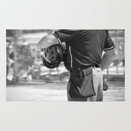 Umpire in Black and White Rug