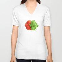 pumpkin V-neck T-shirts featuring pumpkin by Tanya Pligina