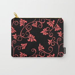 Black Pink Flower Carry-All Pouch