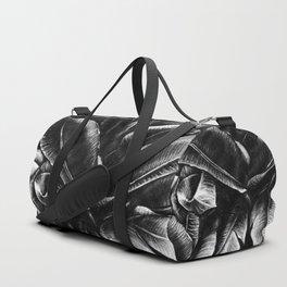 Dark Palm Leaves Duffle Bag