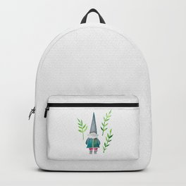 Summer Gnome - Green Leaves Backpack