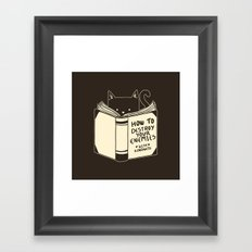 How To Destroy Your Enemies With Kindness Framed Art Print