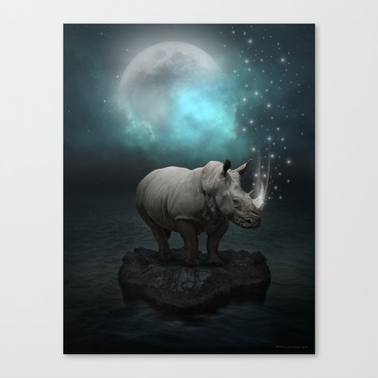 Power Is No Blessing In Itself v.2 (Protect the Rhino)  Canvas Print
