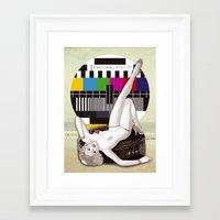 "channel Framed Art Prints featuring ""CHANNEL"" by mazzurski"