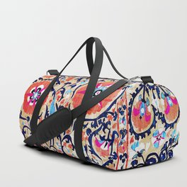 Shakhrisyabz Suzani Uzbek Embroidery Print Duffle Bag