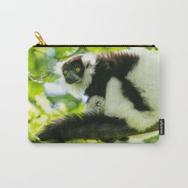 Black-and-white Ruffed Lemur Carry-All Pouch