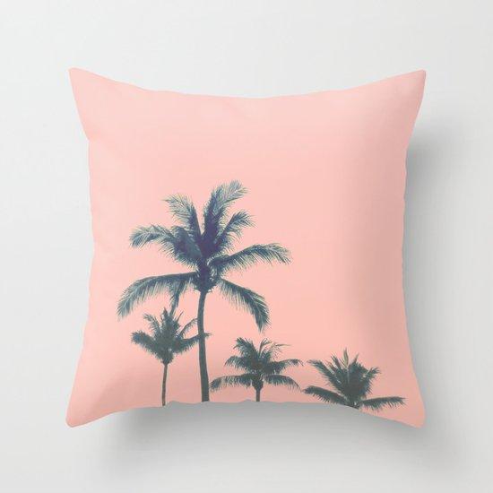 Cotton Candy Summer Throw Pillow