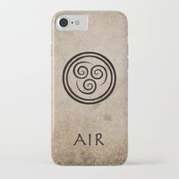 airbender iPhone & iPod Cases featuring Avatar Last Airbender - Air by bdubzgear
