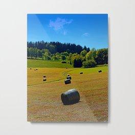 Dance of the hay bales Metal Print