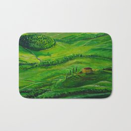 Greenland with a small house Bath Mat