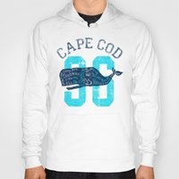 cape cod Hoodies featuring Cape Cod Whale by Rob Howell