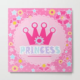"For the little Princess. From the series ""Gifts for kids"" . Metal Print"