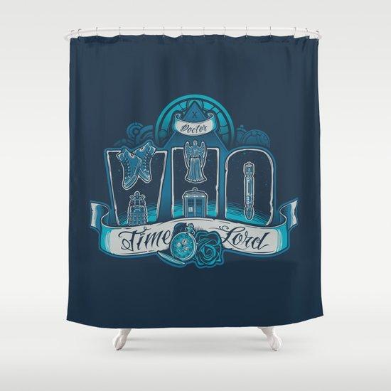 Infinite Who Shower Curtain