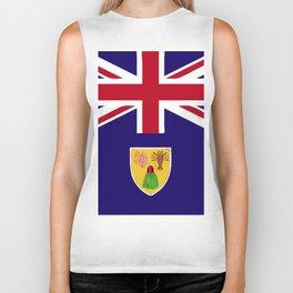 Turks and Caicos Islands flag emblem Biker Tank