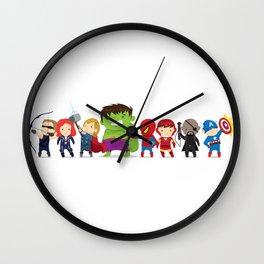 Super Hero Illustration Wall Clock