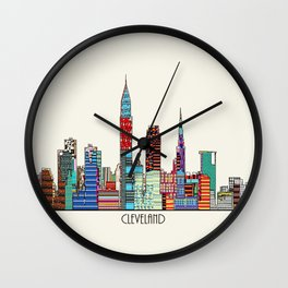 Cleveland city  Wall Clock