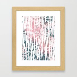 Abstract animal and palm Framed Art Print