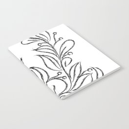 Floral Black and White Art Notebook
