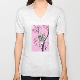 koala with baby in tree Unisex V-Neck