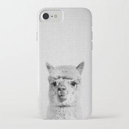 Alpaca - Black & White iPhone Case