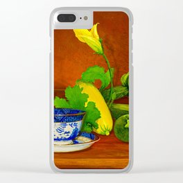 Teacup with Squash Clear iPhone Case
