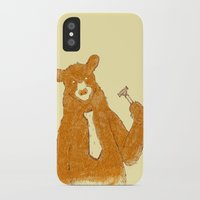 the office iPhone & iPod Cases featuring Office Bear by Tobe Fonseca