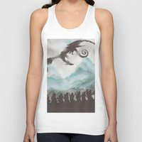 smaug Tank Tops featuring The Desolation of Smaug by JadeJonesArt