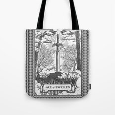 Legend of Zelda Master Sword Vintage Tarot Scene Tote Bag