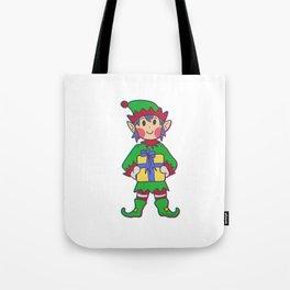 Christmas elf pole Help Children Gift Tote Bag