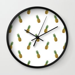 Pineapples Summer Wall Clock