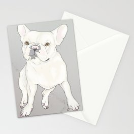 """""""Frenchie Love"""" Stationery Cards"""